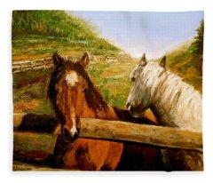 Alberta Horse Farm Fleece Blanket