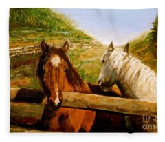 Alberta Horse Farm Fleece Blanket
