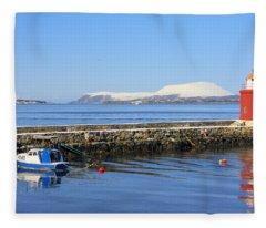 Alesund Lighthouse Fleece Blanket