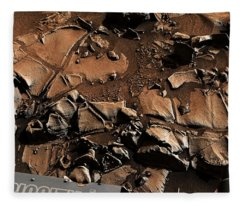 Alexander Hills Bedrock In Mars Fleece Blanket