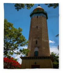Alhambra Water Tower Of Coral Gables Fleece Blanket