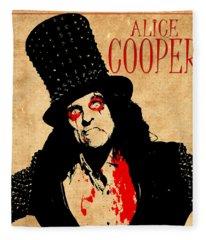 Alice Cooper 1 Fleece Blanket