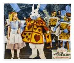 Alice In Wonderland Fleece Blanket
