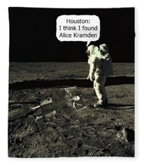 Alice Kramden On The Moon Fleece Blanket