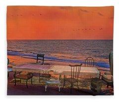 Alice's Topsail Island Tea Fleece Blanket