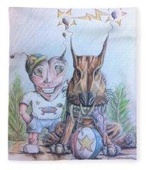 Alien Boy And His Best Friend Fleece Blanket