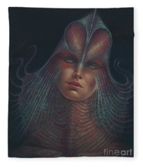 Alien Portrait Il Fleece Blanket