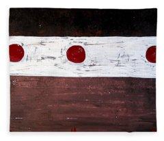 Alignment Original Painting Fleece Blanket