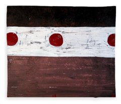 Alignment Original Painting Fleece Blanket