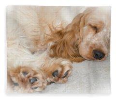All Feet And Ears Fleece Blanket