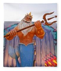 All Hail King Triton Fleece Blanket