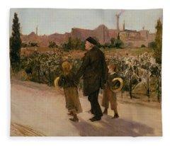 All Souls Day, C.1882 Fleece Blanket