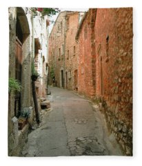 Alley In Tourrette-sur-loup Fleece Blanket