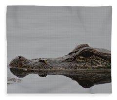 Alligator Eyes Fleece Blanket