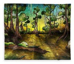 Alligator Swamp Fleece Blanket