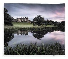 Alnwick Castle Sunset Fleece Blanket