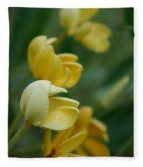 Aloha He Pua Lahaole Kula Gardenia Grandiflora Fleece Blanket