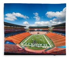 Aloha Stadium Fleece Blanket