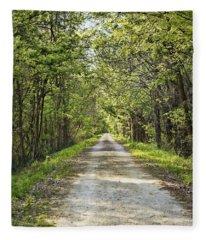 Along The Katy Trail Fleece Blanket
