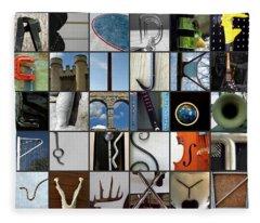Alphabet Fleece Blanket