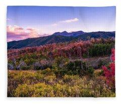 Alpine Fall Fleece Blanket