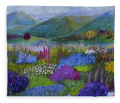 Alpine Wild Flowers Fleece Blanket