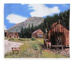 Alta In Colorado Fleece Blanket