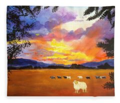 Alvin Counting Sheep Fleece Blanket
