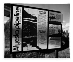 Alyeska Pipeline Fleece Blanket