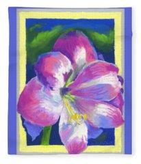 Amaryllis By Morning Fleece Blanket