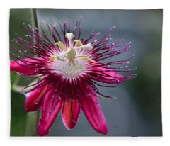 Amazing Passion Flower Fleece Blanket