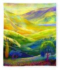 Wildflower Meadows, Amber Skies Fleece Blanket