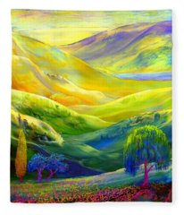 Wildflower Meadows, Amber Skies Fleece Blanket