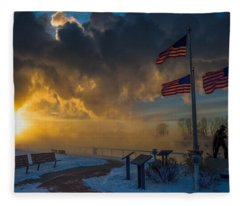 America Frozen Fleece Blanket