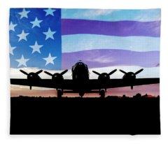 American B-17 Flying Fortress Fleece Blanket