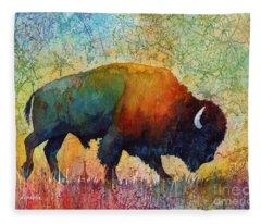 American Buffalo 4 Fleece Blanket
