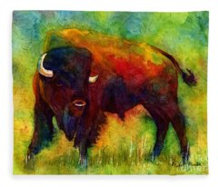 American Buffalo Fleece Blanket