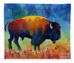 American Buffalo II Fleece Blanket