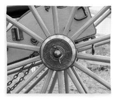 American Civil War Cannon Wheel Fleece Blanket