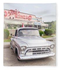 American Classics Tilton Diner Classic Pickup Truck Fleece Blanket
