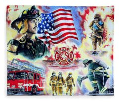 American Firefighters Fleece Blanket