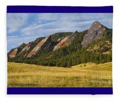 American Flatiron Morning Light Boulder Colorado Fleece Blanket