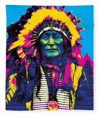 American Indian Chief Fleece Blanket
