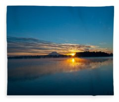 American Lake Sunrise Fleece Blanket
