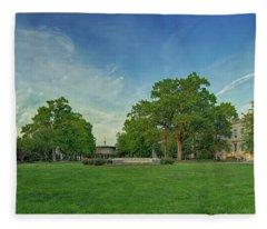 American University Quad Fleece Blanket