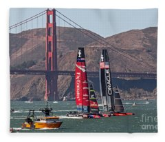 Americas Cup At The Gate Fleece Blanket