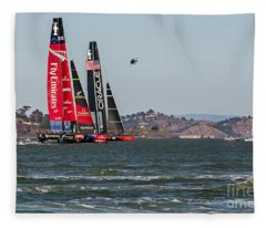 Americas Cup Catamarans Fleece Blanket