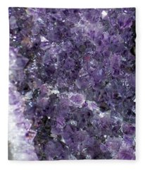 Amethyst Geode II Fleece Blanket