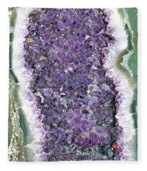 Amethyst Geode Fleece Blanket