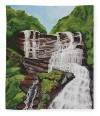 Amicalola Falls Fleece Blanket